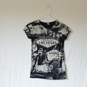 NWOT Las Vegas Black and White T-Shirt